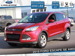 Used 2015 Ford Escape SE**AWD*CAMERA*BLUETOOTH*A/C** for sale in Victoriaville, QC