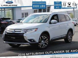Used 2016 Mitsubishi Outlander SE AWC**7 PLACES*TOIT*CAMERA*BLUETOOTH*CRUISE*A/C* for sale in Victoriaville, QC