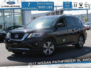 Used 2017 Nissan Pathfinder SL**AWD*7 PLACES*CUIR*TOIT*CAMERA*BLUETOOTH*A/C** for sale in Victoriaville, QC