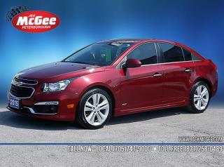Used 2015 Chevrolet Cruze LTZ 1.4L Turbo, Htd Ltr Bkts, RS Pkg, Sunroof, NAV, Rmt Start, 18