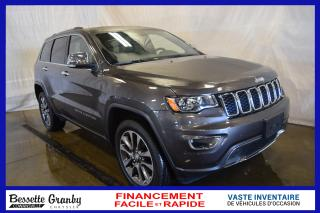 Used 2018 Jeep Grand Cherokee Limited-Navigation-Toit-Cuir for sale in Cowansville, QC