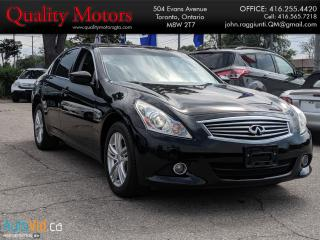 Used 2011 Infiniti G25 LEATHER for sale in Etobicoke, ON