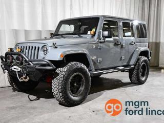 Used 2015 Jeep Wrangler Unlimited SAHARA 4X4 | 6 SPEED MANUAL for sale in Red Deer, AB