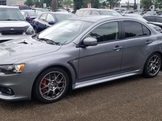 Used 2015 Mitsubishi Lancer Evolution GSR; BLUETOOTH, HEATED FRONT SEATS, BEAUTIFUL VEHICLE for sale in Edmonton, AB