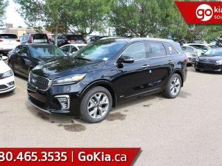 Used 2019 Kia Sorento SX V6; AWD, LEATHER, PANO ROOF, NAV, PUSH START, 7 PASS, HEATED SEATS/WHEEL, VENTILATED SEATS, HARMON/KARDON, BACKUP CAMERA, BLIND-SPOT/CROSS TRAFFIC ALERT, ANDROID AUTO/APPLE CAR PLAY for sale in Edmonton, AB