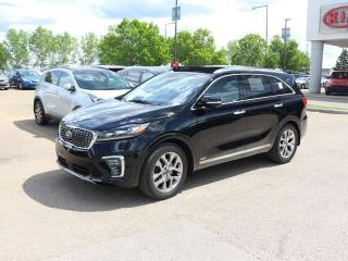 Used 2019 Kia Sorento SXL LIMITED; AWD, LEATHER, PANO ROOF, NAV, PUSH START, 7 PASS, ADAPTIVE CRUISE, HEATED SEATS/WHEEL, HARMON/KARDON, VENTILATED SEATS, 360 BACKUP CAMERA, BLIND-SPOT/CROSS TRAFFIC ALERT, ANDROID AUTO/APPLE CAR PLAY for sale in Edmonton, AB