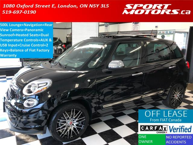 2015 Fiat 500L Lounge+GPS+Pano Roof+Camera+Heated Seats+A/C