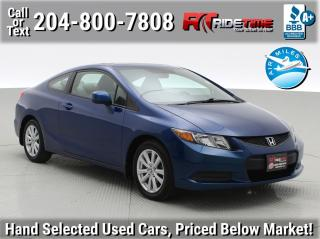 Used 2012 Honda Civic Cpe EX for sale in Winnipeg, MB
