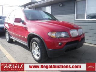 Used 2005 BMW X5 4D Utility 4WD for sale in Calgary, AB