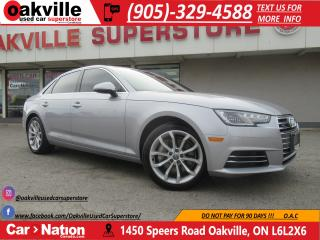 Used 2017 Audi A4 2.0T PROGRESSIV | NAV | CARPLAY | B/U CAM for sale in Oakville, ON