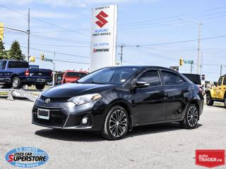 Used 2014 Toyota Corolla S ~Nav ~Backup Cam ~Heated Leather ~Power Moonroof for sale in Barrie, ON