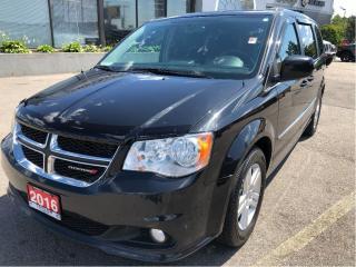 Used 2016 Dodge Grand Caravan Crew w/Backup Cam, Heated Steering Wheel, Bluetoot for sale in Hamilton, ON