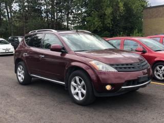 Used 2006 Nissan Murano SE V6 AWD|BACKUP CAMERA|CERTIFIED|SUNROOF|BY APPOINTMENT for sale in Newmarket, ON