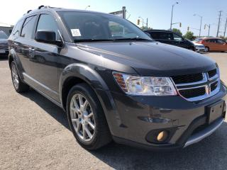 Used 2018 Dodge Journey GT AWD with NAV and DVD! Leather, Sunroof, 7 Passenger, AutoStart, BackupCam and Full Pwr Equipment wit for sale in Kemptville, ON
