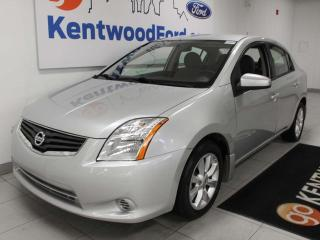 Used 2012 Nissan Sentra 2.0 FWD in shining silver, taking you back to simpler times for sale in Edmonton, AB