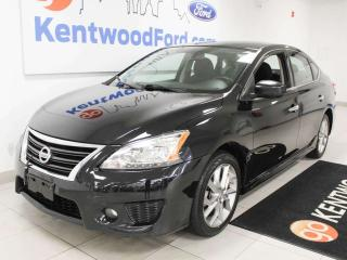 Used 2014 Nissan Sentra SR FWD with sunroof, heated seats, auto start/stop, back up cam, and NAV for sale in Edmonton, AB
