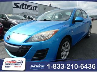Used 2010 Mazda MAZDA3 GX / MANUELLE / A/C / JAMAIS ACCIDENTE for sale in St-Georges, QC