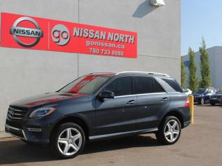Used 2013 Mercedes-Benz ML-Class BlueTEC DIESEL/AWD/ONE OWNER/PANO ROOF/HEATED SEATS for sale in Edmonton, AB