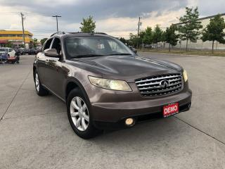 Used 2005 Infiniti FX35 Leather,Sunroof,3/Y Warranty available for sale in Toronto, ON