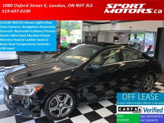 Used 2015 Mercedes-Benz CLA-Class CLA 250 4MATIC+Xenons+GPS+Camera+Pano Roof+Blin for sale in London, ON