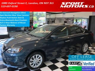 Used 2016 Nissan Sentra SV+Sunroof+GPS+Blind Spot+Camera+BOSE+Rust Proofed for sale in London, ON