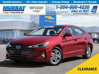Used 2019 Hyundai Elantra *Accident Free, Sunroof, Rear View Camera* for sale in Winnipeg, MB