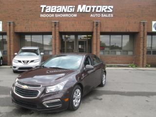 Used 2015 Chevrolet Cruze LT NO ACCIDENTS SUNROOF REARCAM REMOTE START BT for sale in Mississauga, ON
