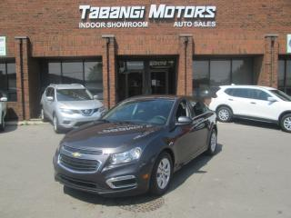 Used 2016 Chevrolet Cruze LT NO ACCIDENTS BIG SCREEN REARCAM REMOTE START BT for sale in Mississauga, ON
