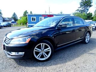 Used 2013 Volkswagen Passat Highline TDI DSG Suede on Leather Roof Bluetooth Certified for sale in Guelph, ON