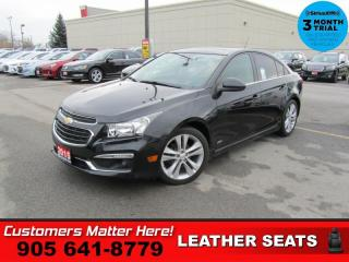 Used 2015 Chevrolet Cruze LT w/2LT  RS-PKG MANUAL LEATH ROOF for sale in St. Catharines, ON