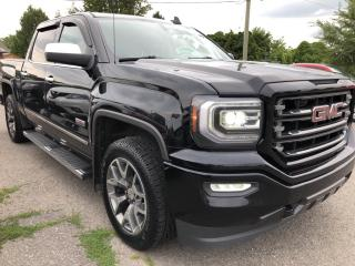 Used 2016 GMC Sierra 1500 SLE Crew All Terrain! Nice with Leather/Cloth Seats, Heated Seats, BackupCam, AutoStart, Bluetooth, Dual for sale in Kemptville, ON