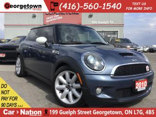 Used 2010 MINI Cooper S 50 Camden|AUTO|CLEAN CARFAX|PANO ROOF|HK SOUND for sale in Georgetown, ON