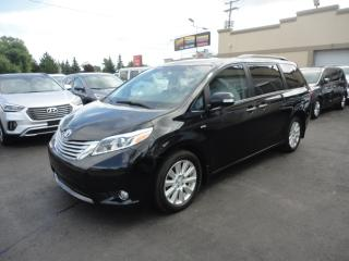 Used 2017 Toyota Sienna Limited AWD DVD Cuir Toit Pano Navi for sale in Laval, QC