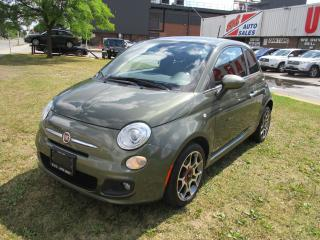 Used 2012 Fiat 500 Sport~AUTO~LOW KM'S~LEATHER~CERTIFIED!!! for sale in Toronto, ON