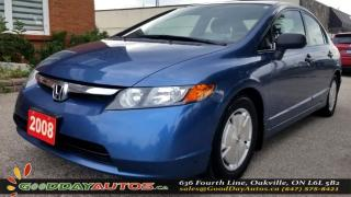 Used 2008 Honda Civic DX-G |LOW KM|ALLOYS|KEYLESS ENTRY|CERTIFIED for sale in Oakville, ON