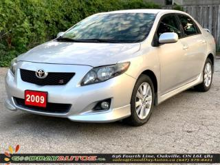 Used 2009 Toyota Corolla S |LOW KM|NO ACCIDENT|ALLOYS|AC|CERTIFIED for sale in Oakville, ON