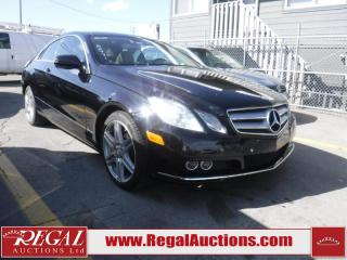Used 2010 Mercedes-Benz E-CLASS E350 2D COUPE RWD for sale in Calgary, AB
