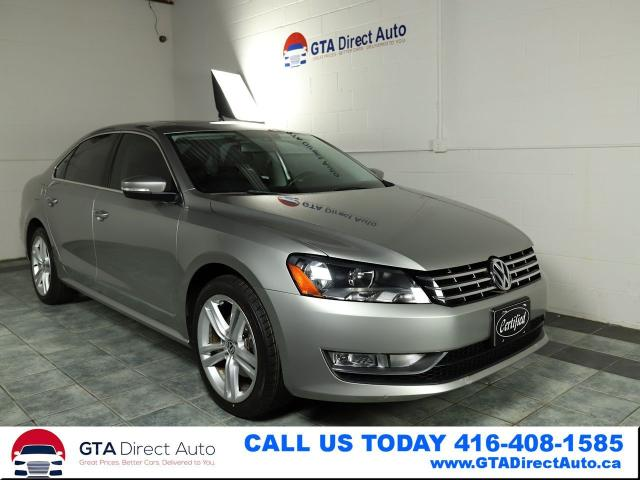 2014 Volkswagen Passat Highline TDI Nav Sunroof Cam Leather Certified