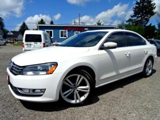 Used 2013 Volkswagen Passat Highline TDI DSG Navi Back-Up Cam Sunroof Certified for sale in Guelph, ON