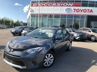 Used 2016 Toyota Corolla LE AUTO/AIR/VITRES/CAMERA for sale in St-Eustache, QC