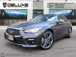 Used 2014 Infiniti Q50 2014 INFINTI Q50S-Engine Sport AWD NAVIGATION REAR VIEW CAMERA 3.7L DOHC 24-Valve V6 $0 DOWN OAC for sale in Concord, ON