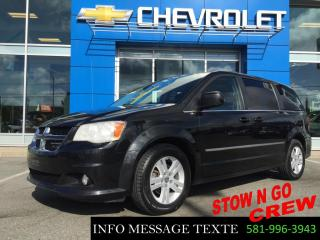 Used 2011 Dodge Grand Caravan CREW STOW N GO, DVD for sale in Ste-Marie, QC