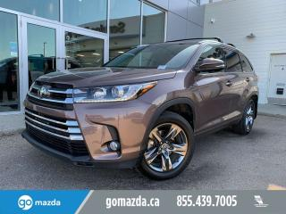 Used 2017 Toyota Highlander LIMITED LEATHER ROOF NAV FULL LOAD for sale in Edmonton, AB