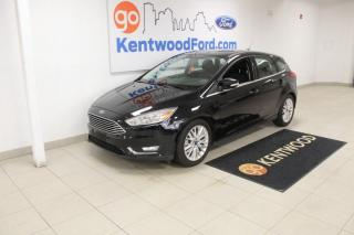 Used 2018 Ford Focus 3 mos Deferral *oac | Titanium | Heated Leather | Heated Steering | hatchback! for sale in Edmonton, AB