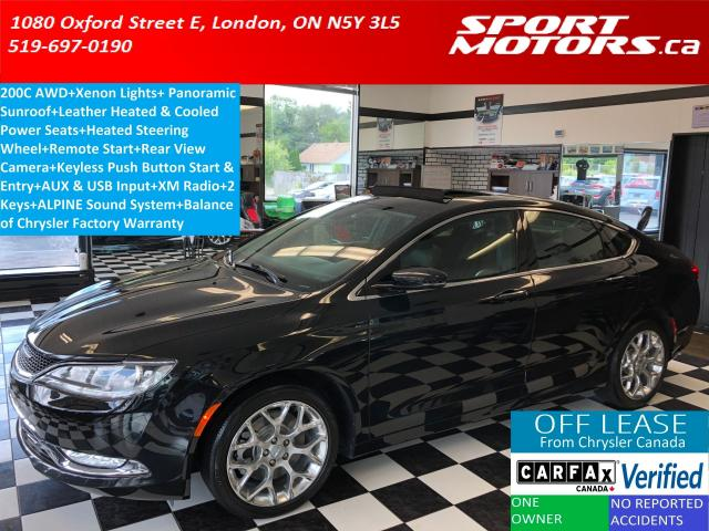 2015 Chrysler 200 C AWD+Pano Roof+Xenons+Camera+Cooled Leather+A/C