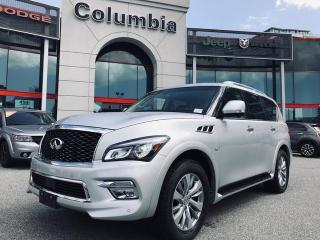 Used 2015 Infiniti QX80 AWD- Local/Accident free/Nav/Leather/DVD for sale in Richmond, BC