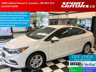 Used 2016 Chevrolet Cruze LT+Apple & Android Play+HTD Seats+Camera+RMT Start for sale in London, ON