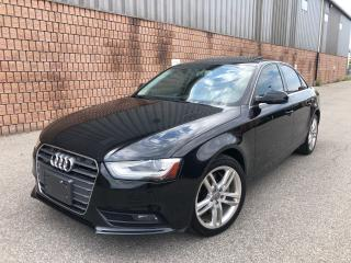 Used 2013 Audi A4 2.0T-QUATTRO-PREMIUM PLUS-NAVIGATION-SUNROOF for sale in Toronto, ON