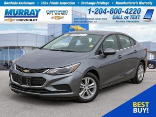 Used 2018 Chevrolet Cruze LT Auto *Bluetooth, USB Port, Remote Start* for sale in Winnipeg, MB