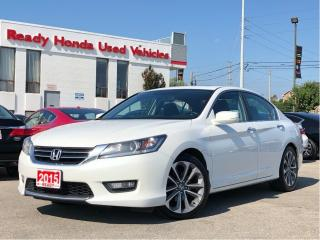Used 2015 Honda Accord Sedan Sport - Sunroof - Rear Camera - Lip Spoiler for sale in Mississauga, ON